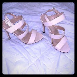 Chase & Chloe- Cream 3 Straps Heels